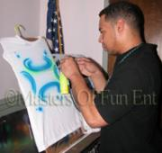 Airbrush Party Favor in Action