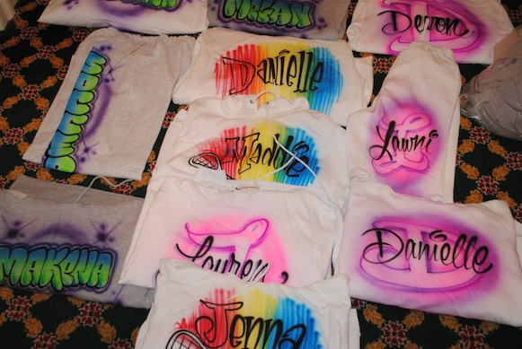 Airbrush clothing new york airbrush party favors in long for Long beach ny shirts